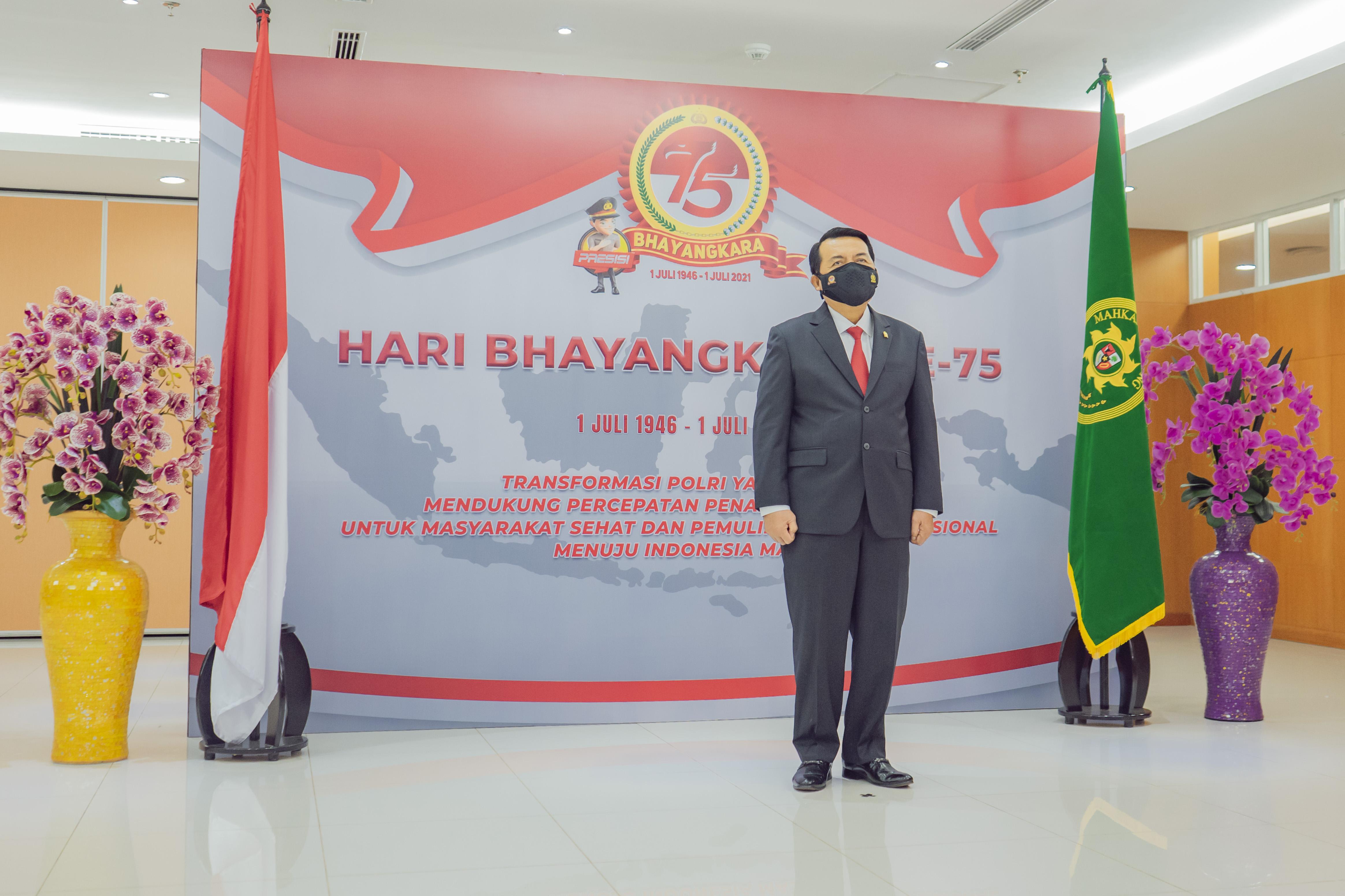 KMA HADIRI UPACARA PERINGATAN HARI BHAYANGKARA KE 75 SECARA VIRTUAL