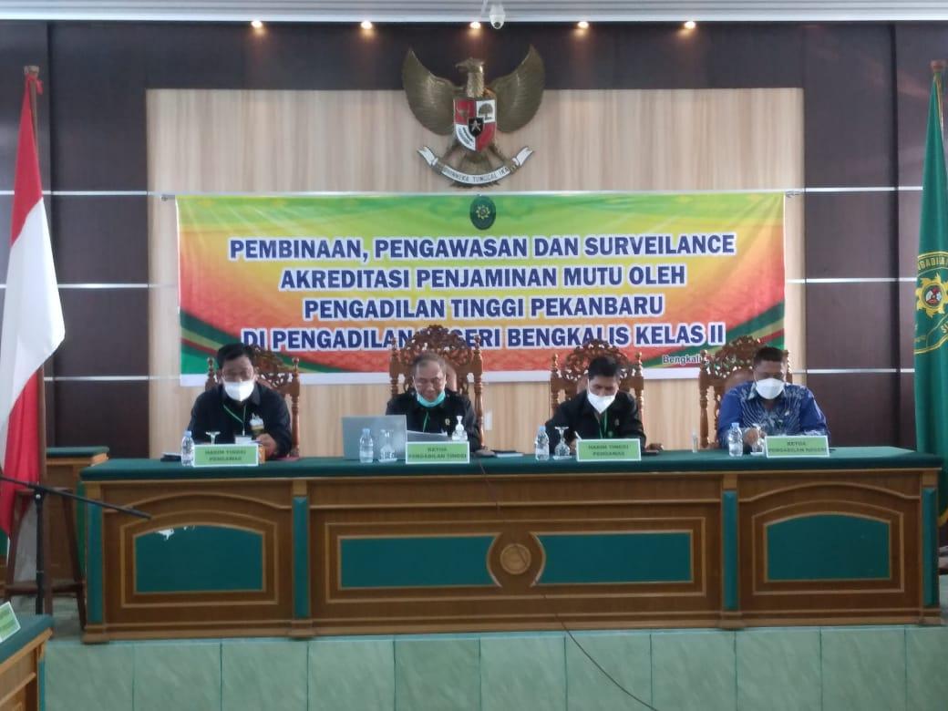 Opening Meeting Pembinaan, Pengawasan dan Surveillance Akreditasi Penjamin Mutu oleh Pengadilan Tinggi Pekanbaru